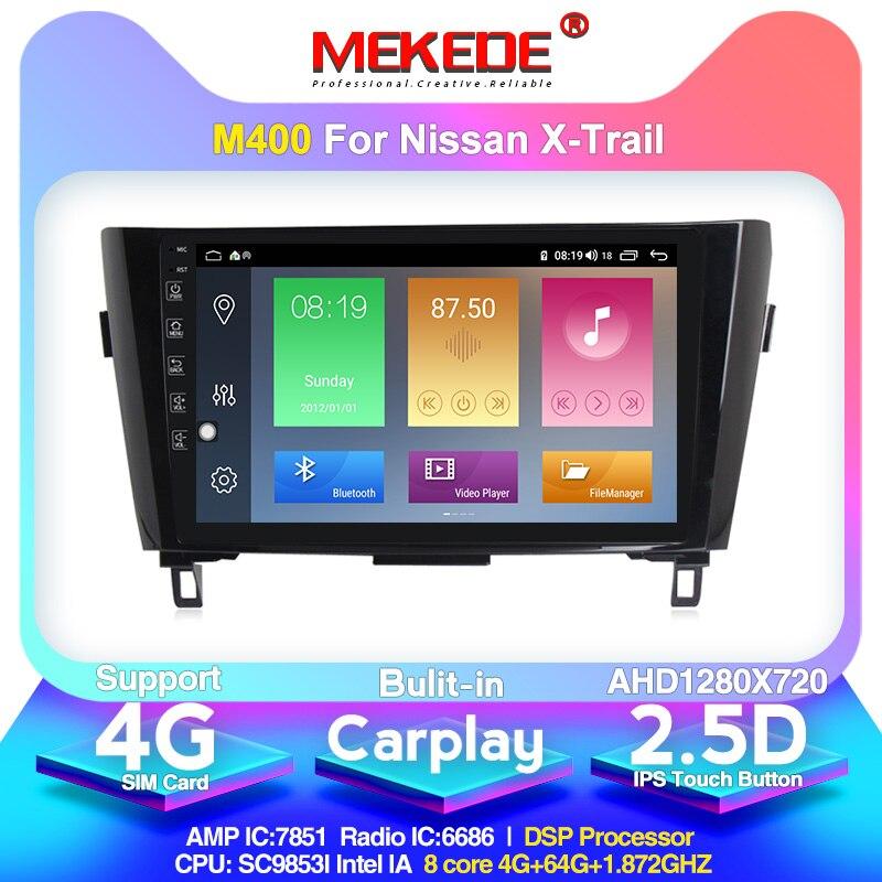2 Din 4G + 64G Android 10.0 samochodowe radio stereo dla Nissan X Trail X Trail 3 T32 2013-2017 4G Lte DSP jednostka nawigacji gps