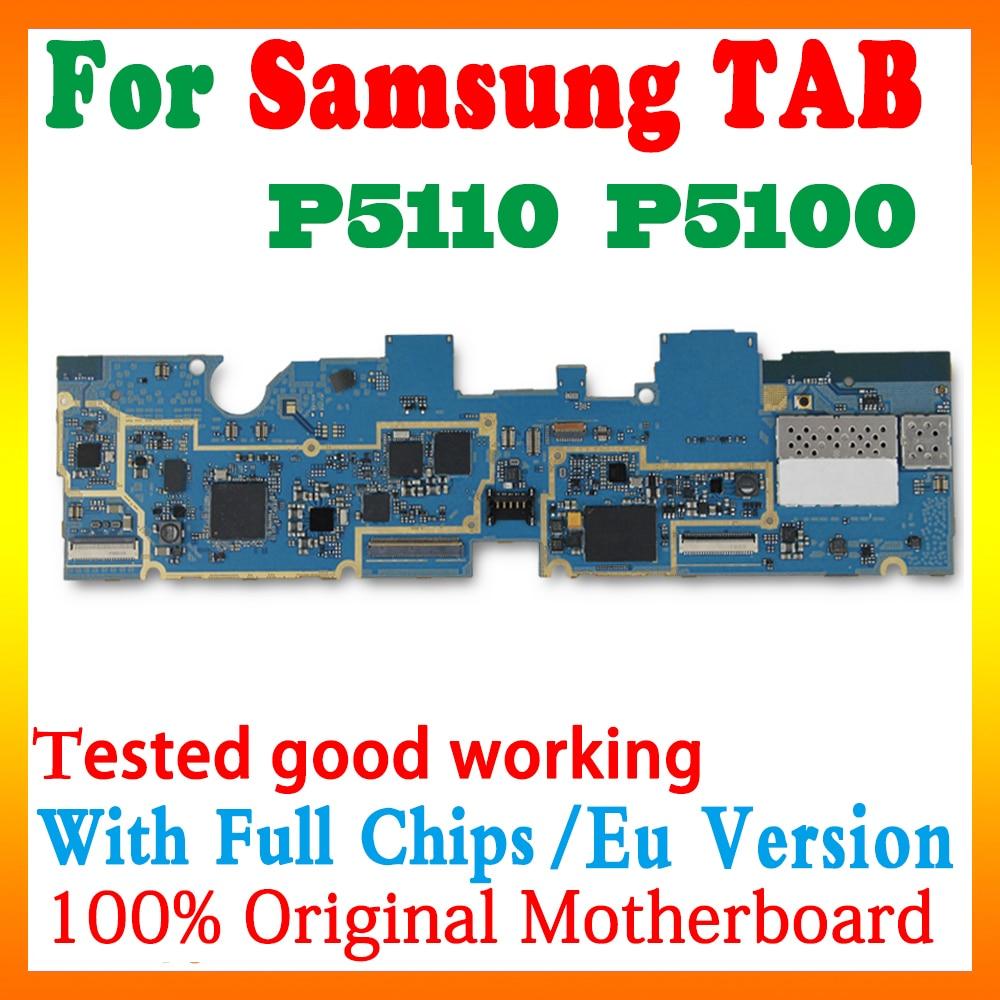 Carte mère originale débloquée pour Samsung Galaxy Tab 2 P5100 P5110, avec WIFI et 3G, 16 go ROM, circuit imprimé principal avec puces complètes