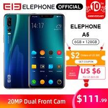 ELEPHONE A5 6GB 128GB Mobile Phone MTK6771 Octa Core 6.18'' FHD+ Screen 20MP Fro