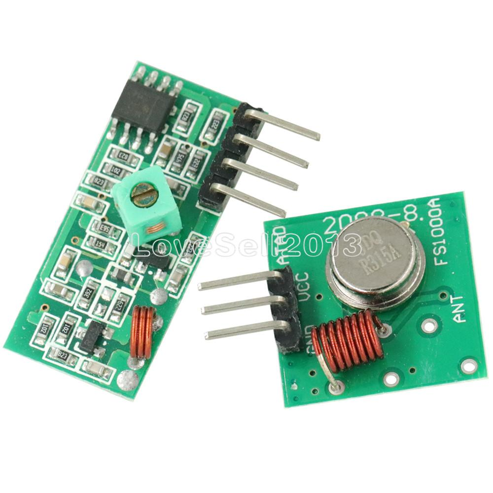 5Pcs For Arduino 315Mhz Rf Transmitter And Receiver Link Kit Arm Mcu US Stock c