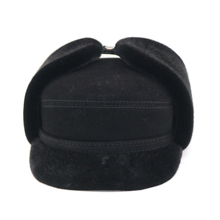 Мужская зимняя шапка ушанка бомбер-пилот из искусственной кожи с шапкой и шляпой