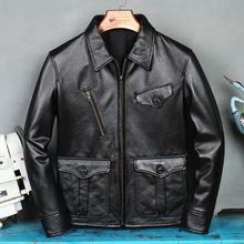 YR!Free shipping.Wholesales suede.2021 brand new black cowhide jacket.men quality genuine leather coat.dropship