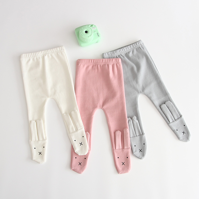 Newborn Baby Girls Pants Cartoon 3D Bunny Design Pantyhose For Girls Tights Toddler Baby Legging Children Trousers 0-24m