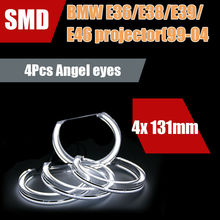 цена на DTM Style LED Angel Eyes DRL Halo Lights For BMW 3 Series E38 E46 M3/E39/E36 Halogen Xenon Projector Headlight Accessories Tunin