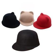Новинка Корейская однотонная шерстяная шапка для конного спорта