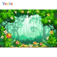 Fairy Tale Wonderland Forest Green Screen Backdrop Newborn Baby Shower Kids Portrait  Photography Background For Photo Studio