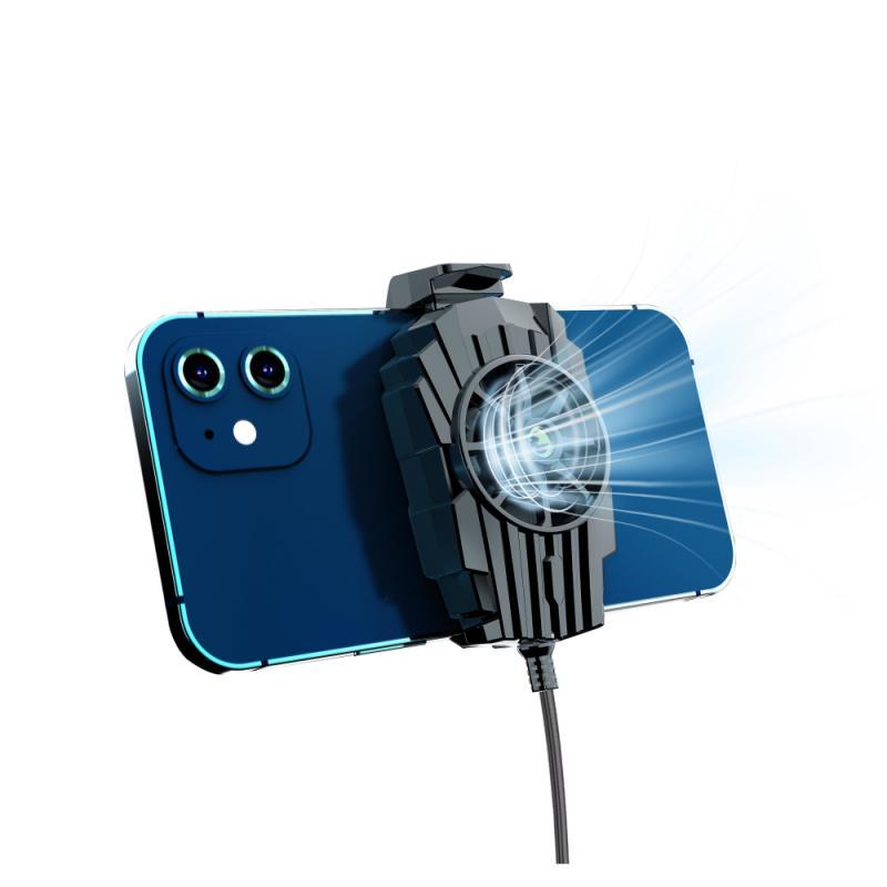 Phone Cooler Semiconductor USB Radiator Gaming Grip Universal 9 Blade Cooling Fan Bracket Heat Sink Retractable Buckle Portable