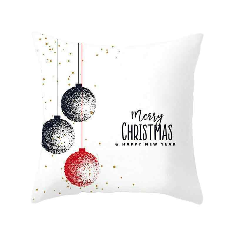 45*45cm Polyester Pillowcase  Snowflake Elk Printed Polyester Pillowcase Christmas Series Without Pillow Poszewki Na Poduszki