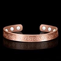 Étnico puro cobre 6 pulseira de pulso magnético z08c|bangle bracelet|women cuff|wrist bangle -