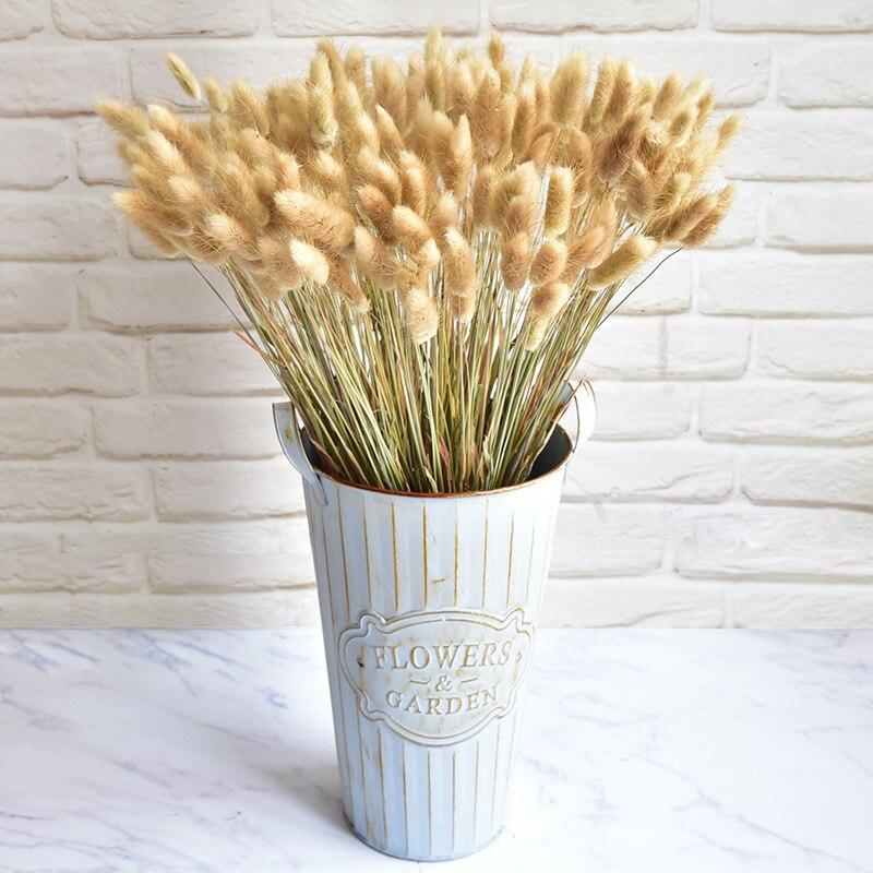 Buquê de flores secas naturais de coelho, 30/60 peças de ramo colorido, lagurus ovato, ramo de flores reais para casamento decoração