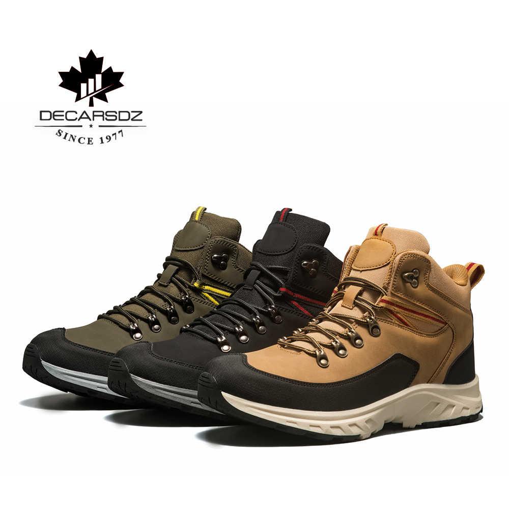 Erkek bot ayakkabı erkekler günlük çizmeler 2019 yeni marka tasarım ayak bileği moda temel botları erkek rahat siyah deri sonbahar Botas hombre