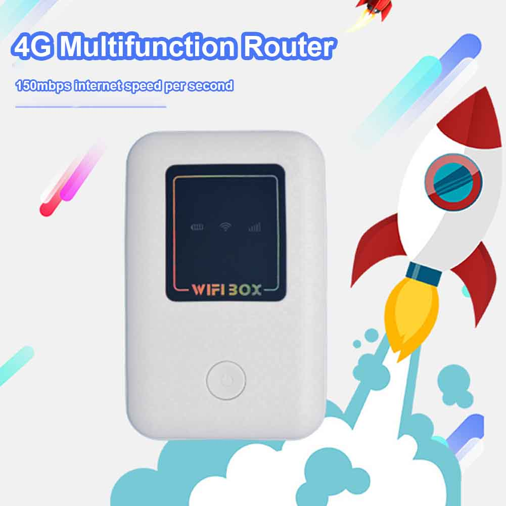 4G Modem Wireless Router Portable Hotspot Broadband Mobile Network Plug And Play Travel WIFI Box High Speed Home Pocket Outdoor