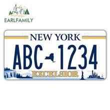 EARLFAMILY 13cm x 6.4cm New York için lisans ABC 1234 Anime araba çıkartmaları gövde sörf tahtası RV VAN çıkartması motosiklet araba aksesuarları