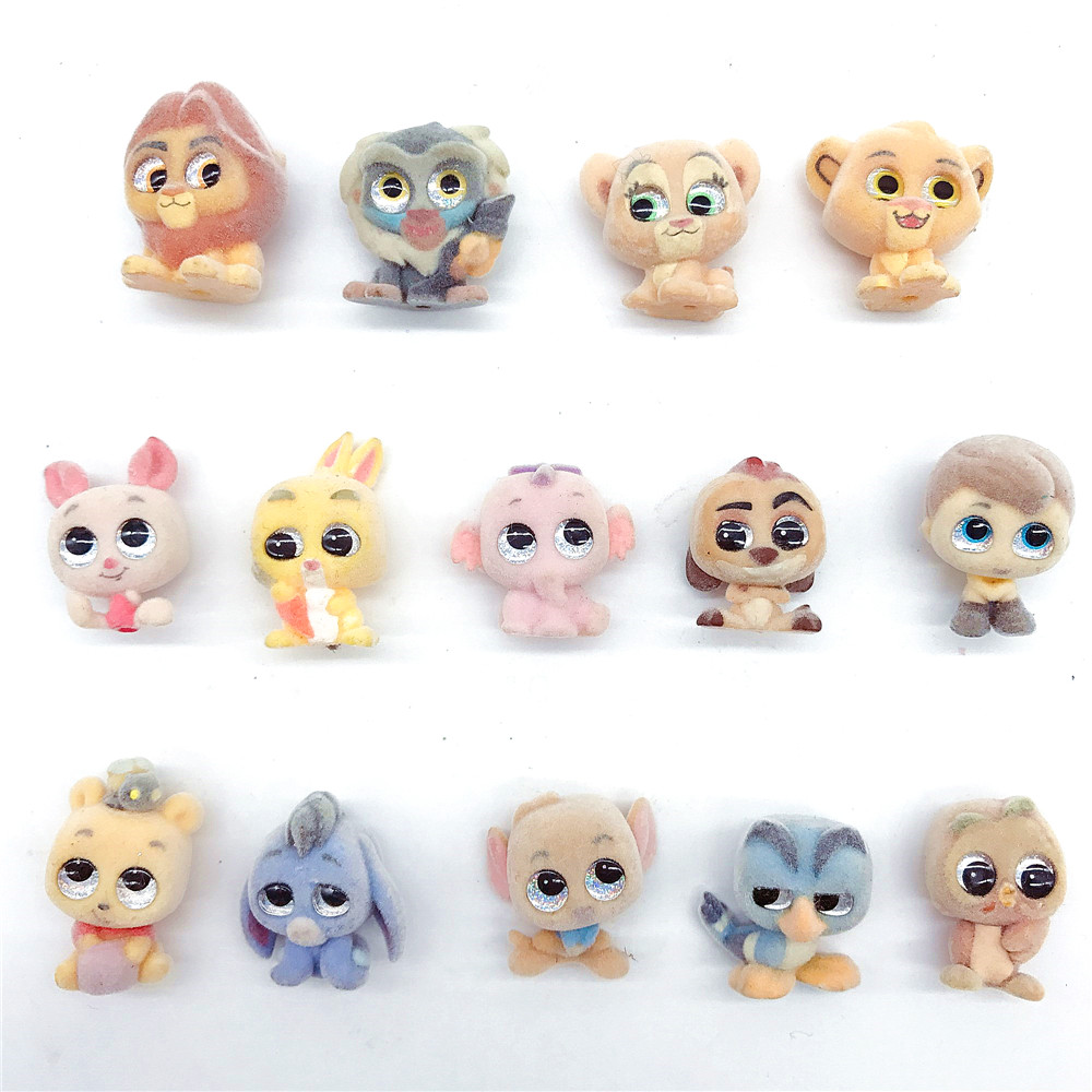 Original Piglet Rabbit Winnie Flock Doll Doorables Series1 Series2  Anima Figure Gifts Kids Toy Special Edition Collection