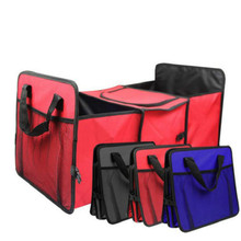 Stowing Tidying Container-Bags Organizer Trunk Car-Storage Collapsible-Toys Black Cargo