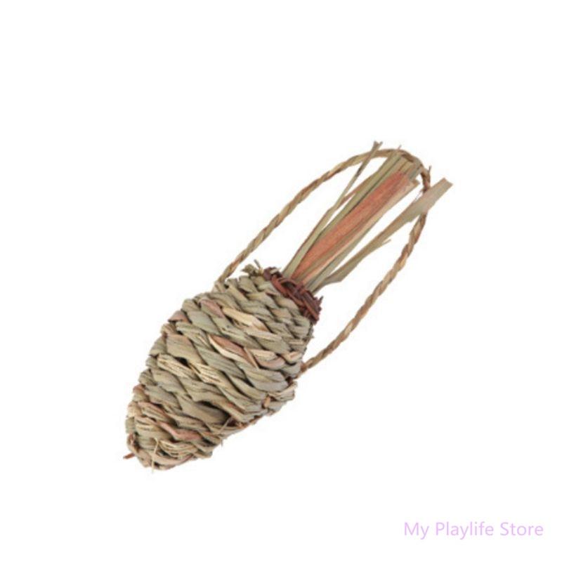 Woven Grass Radish Small font b Pet b font Hamster Chew Toy Molars Straw for Rabbit