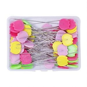 50 unidades/Caja Alfileres del remiendo agujas de posicionamiento agujas de coser marcadores de aguja alfileres de costura DIY Make Garment Accessory