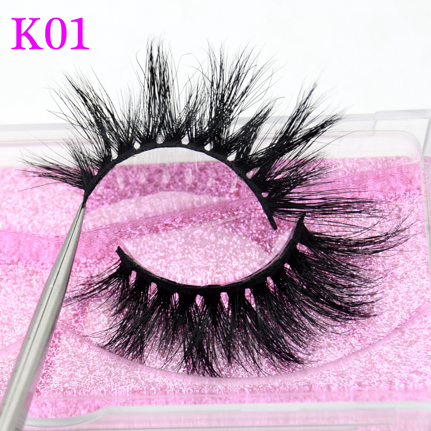 Visofree Mink Eyelashes 3D Mink Lashes Thick HandMade Full Strip Lashes Cruelty Free Mink Lashes Long False Eyelashes Makeup K01