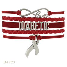 High Quality Hope Ribbon Cure OMS Dementia HS Diabetes Diabetic Warrior Awareness Bracelets