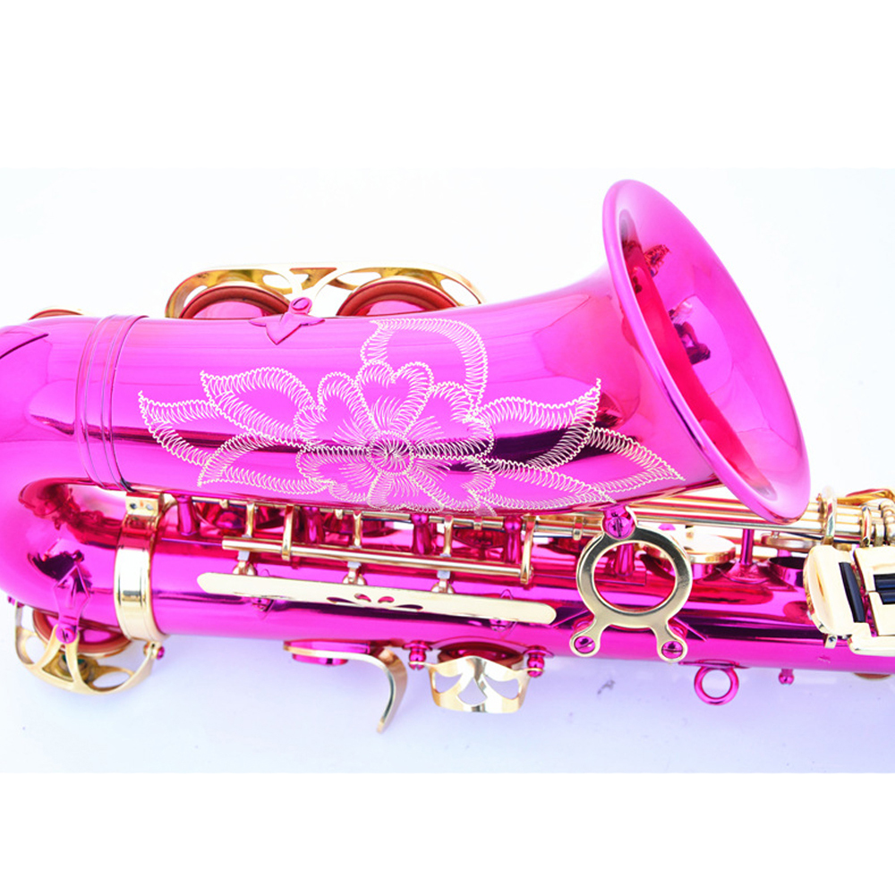 Hot Sale E flat Alto Saxophone 802 bond type Rose Red Gold Sax Playing Musical Instruments Brass Top Quality Saxofon Gift SAX07 - 3