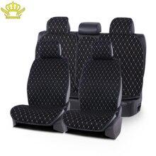 4 jahreszeiten universal auto sitz abdeckung Künstliche wildleder anzug für die meisten autos VAN Stamm SUV vorne zurück 1 sets Auto leinen Seat Protector