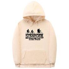 Moletom stranger things de alta qualidade, moletom de capuz de algodão para homens e mulheres, moda inverno, outono, fantasia, 2019