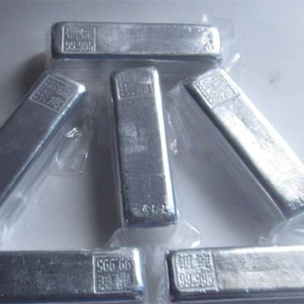 Análise experimental do puro em 99.995% para o bloco puro do índio do lingote do índio 4n5 da pureza alta