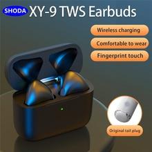 SHODA наушники-вкладыши TWS Bluetooth 5,0 наушники Беспроводной наушники зарядным устройством Беспроводной наушники 9D стерео спортивные Водонепрон...