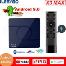 Лидер продаж X3 MAX Smart tv Box Android 9,0 Amlogic S905X3 4 ГБ 32 ГБ 64 Гб 8K 1080P HD медиаплеер двойной wifi Netflix Google плеер
