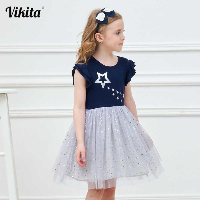 فيكيتا فستان الاميرة للفتيات فساتين يونيكورن للفتيات فساتين الأطفال الترتر فستان توتو للفتيات الصغيرات فساتين الصيف