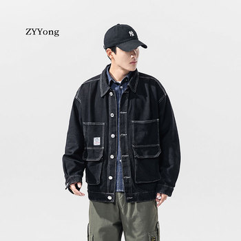 Autumn Denim Jacket Men Solid Cowboy Spring Casual Slim Bomber Male Jean Mens Coats And Jackets Outwear