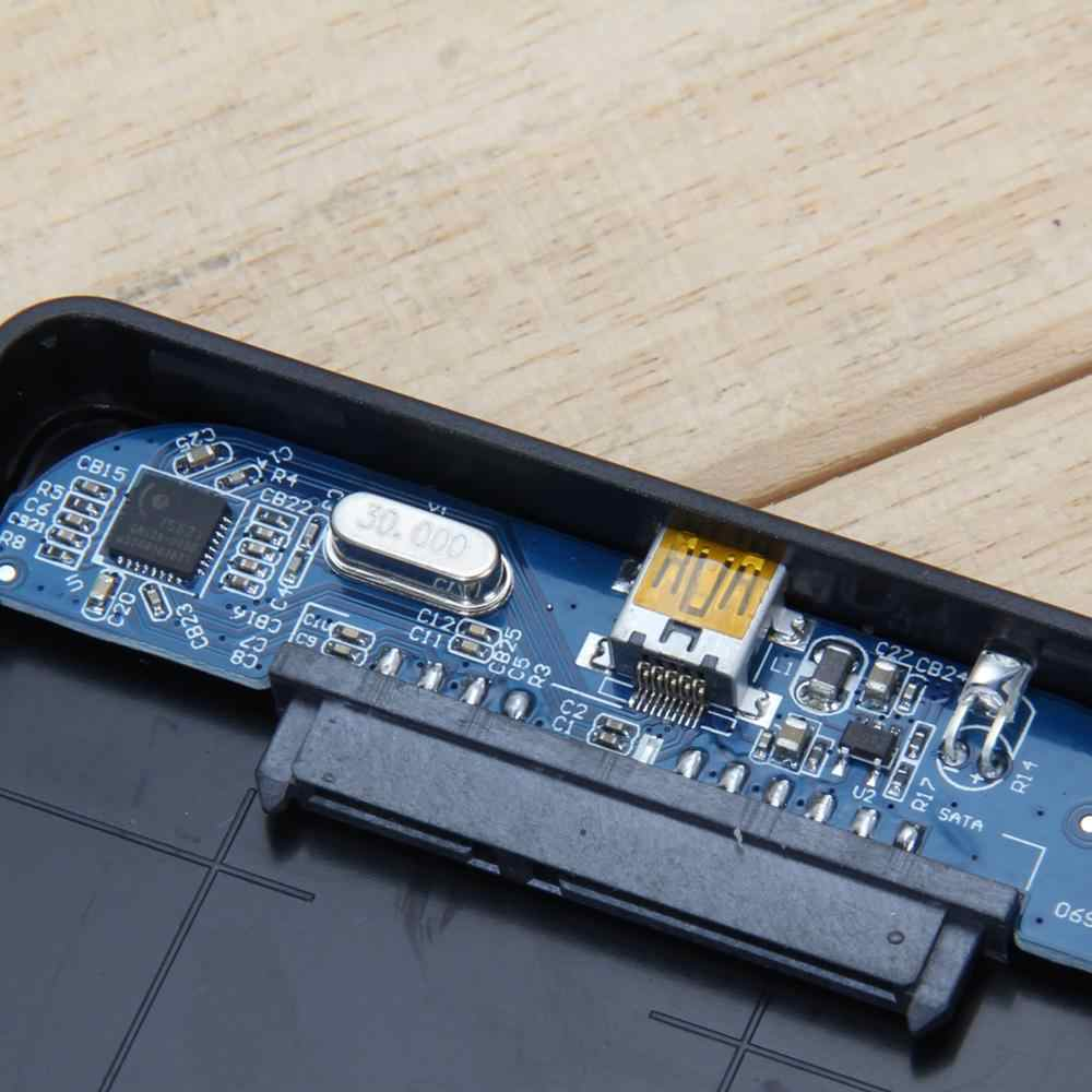 2,5 pulgadas USB 3,0 SATA HDD carcasa 5 Gbps caja de disco duro externo USB sata discos duros HDD caso SSD caja w/cubierta de la bolsa