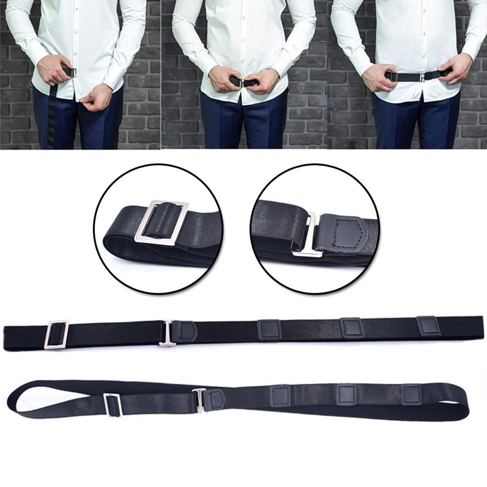 Mens Fashion Adjustable Near Shirt Stay Belt Black No Slip Shirt Stays Shirt Holders For Women Men Formal Dressing