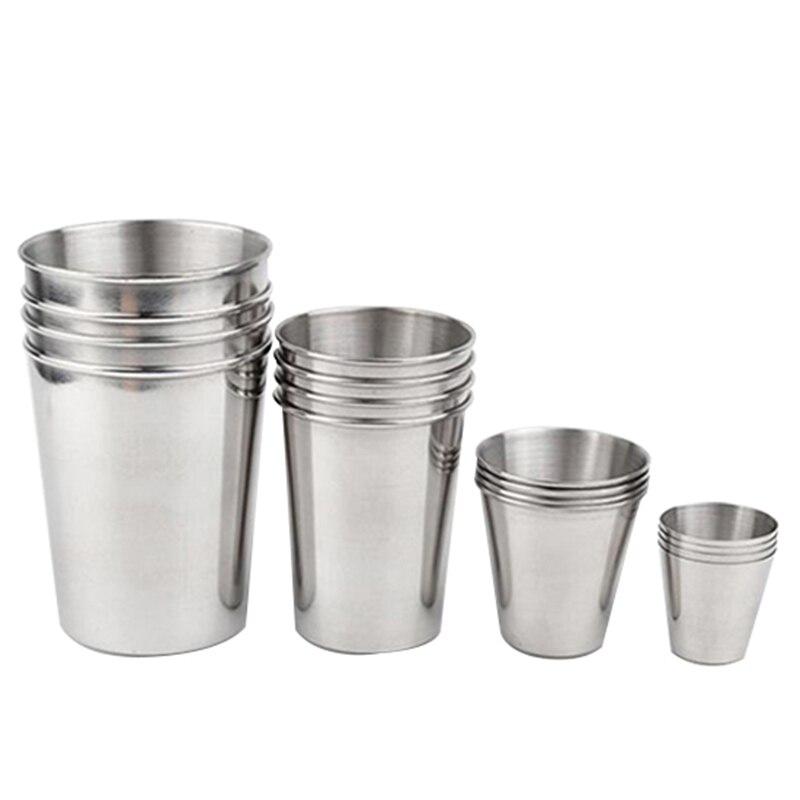 30ml/70ml/180ml/320ml Kitchen Dining Bar Tumblers Stainless Steel Beer Wine Tumbler Beer Whiskey Coffee Cup
