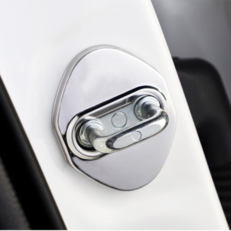4pcs Stainless Steel Car Door Lock Covers Car Styling For Toyota RAV4 C-HR CHR 2017 2018 2019 2020 Auto Accessories