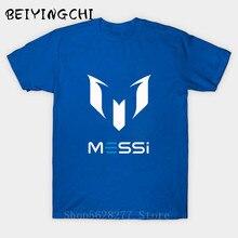 Barato 2017 Nuevo verano MESSI T camisa de los hombres Barcelona camiseta MESSI camiseta homme Tops estilo Swag camiseta aficionados adultos camisa para niños