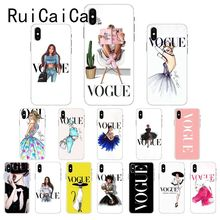 Ruicaica VOGUE Christmas Princess Girl Queen DIY Luxury Phone Case Cover for iPhone X XS MAX  6 6s 7 7plus 8 8Plus 5 5S SE XR 10 ruicaica marvel avengers widow hulk iron man spider man film phone case for iphone x xs max 6 6s 7 7plus 8 8plus 5 5s se xr 10
