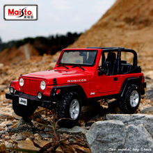 Maisto 1:18 JEEP Wrangler off-road vehicle Alloy Retro Model Car Decoration Collection gift
