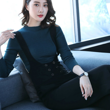 2019 new autumn and winter office lady plus size female women girls brand overalls pants clothing
