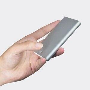 Image 3 - Nowy uchwyt na karty MIIIW ze stali nierdzewnej srebrny aluminiowy etui na karty kredytowe damskie męskie etui na dowód karty etui kieszonkowe