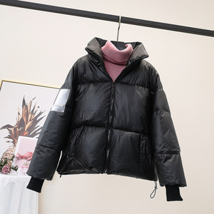 Image 5 - RICORIT Women Down Jacket Down Cotton Loose Clothes Down Coat Female White Duck Down Jacket Winter Waterproof Overcoat