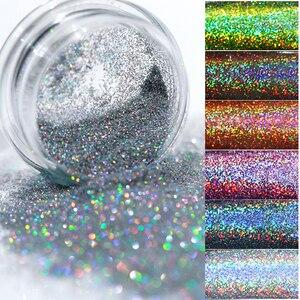 Image 5 - Gradient Shiny Nail Glitter Set Powder Laser Sparkly  Nail Art Chrome Pigment Silver DIY Nail Art Decoration Kit