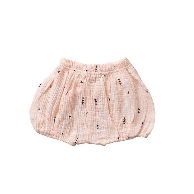 Girls Cotton Linen Bloomer Pink Trigon Shorts