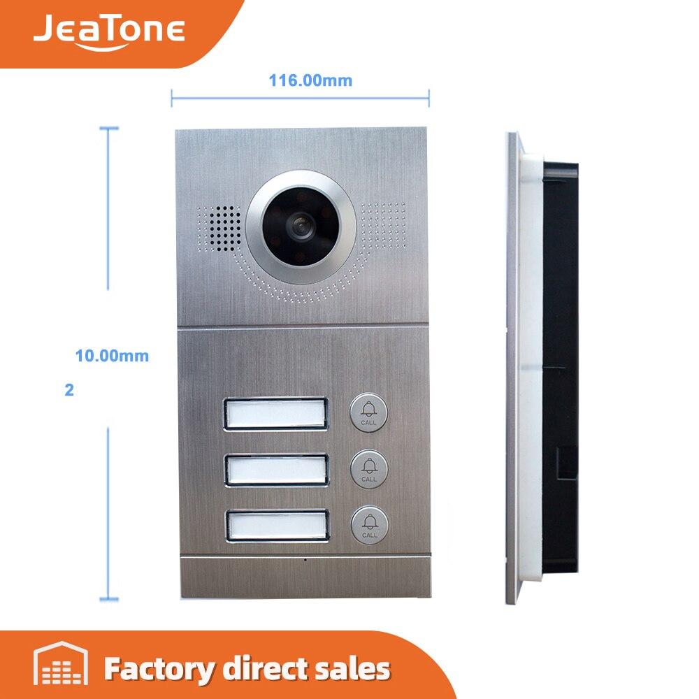 JeaTone 720P AHD Video Door Phone Door Bell IR Camera High Resolution 3 Buttons Call Panel Camera IP65 Waterproof