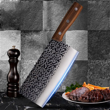 Master Handmade Knife Forged Kitchen Knives 7Cr17mov Stainless Steel Kitchen Knive Non-stick Razor Sharp Cleaver 7.8 inch(China)