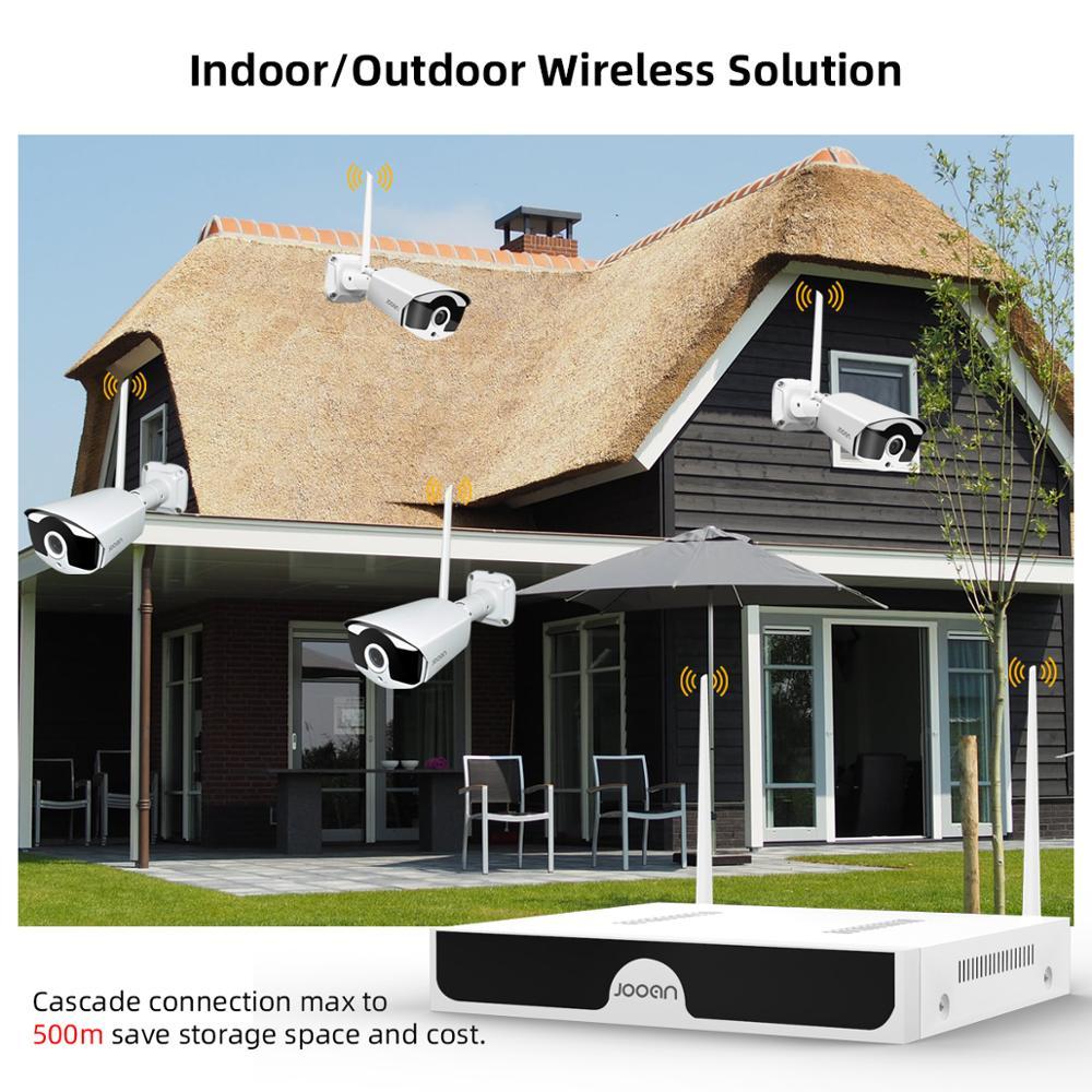 Jooan 8CH NVR 3MP CCTV sistema inalámbrico registro de Audio 4/8 Uds 3.0MP al aire libre P2P Wifi IP juego de cámara de seguridad Kit de videovigilancia - 6