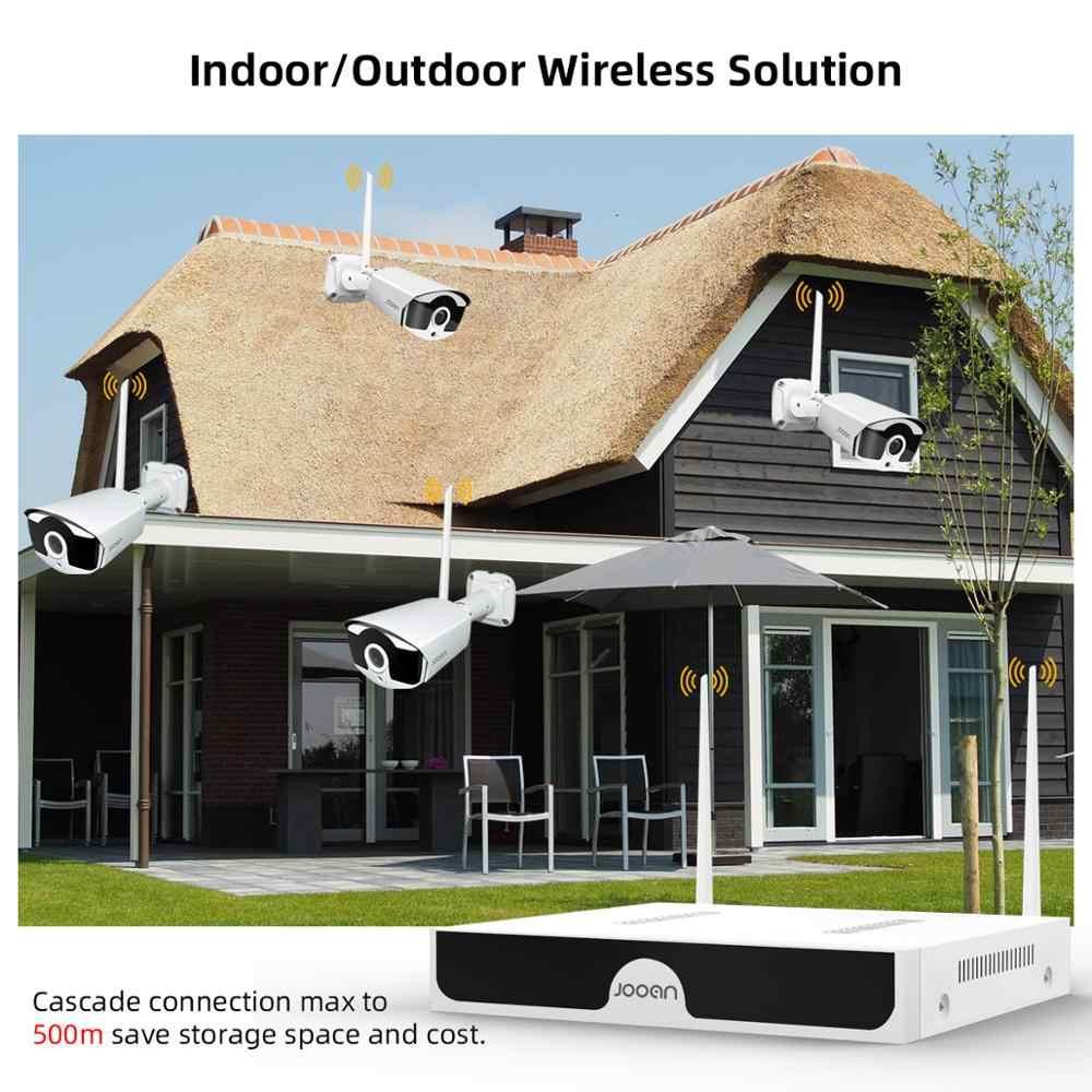 Jooan 8CH NVR HD 3MP System kamer CCTV nagrywanie dźwięku na zewnątrz P2P Wifi zabezpieczenia IP zestaw kamerowy wideo zestaw do nadzorowania