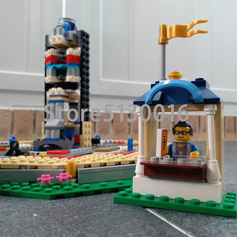 En Stock rue voir le nouveau carrousel 2705 pièces ensemble enfants blocs de construction briques garçon jouets modèle Legoed 10257 15036 - 6