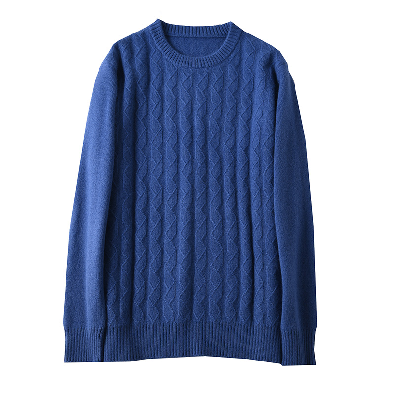 Sparsil Men Pure Cashmere Knitted Pullovers O-Neck Warm100% Cashmere Sweaters Winter Autumn Full Sleeve Casual Wool Jumpers Male