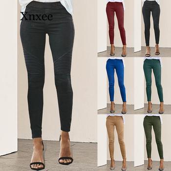 Women Jeans Legging striped Print Legging Women Imitation Jean Slim Fitness Legging Elastic Seamless Jeans Track pants women фото